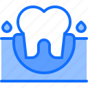 bleeding, blood, dental, dentist, gingiva, medicine, tooth icon
