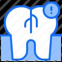 crack, danger, dental, dentist, medicine, tooth icon