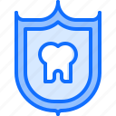dental, dentist, medicine, protection, shield, tooth icon