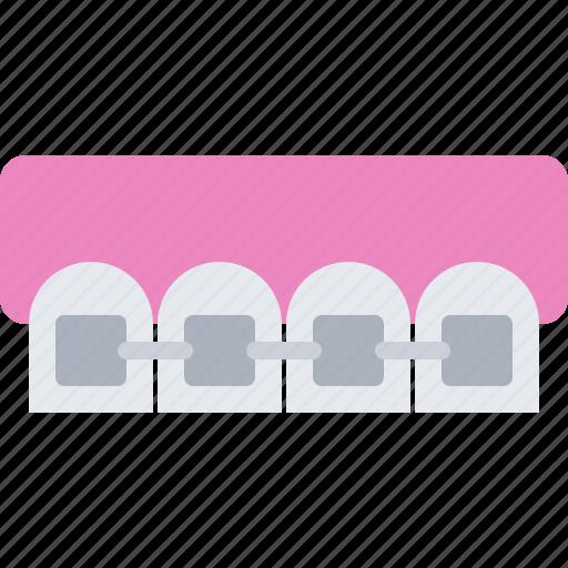 braces, dental, dentist, jaw, medicine, tooth icon