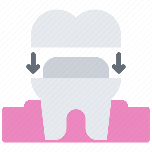 crown, dental, dentist, implant, medicine, tooth icon