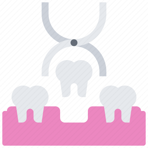 dental, dentist, forceps, medicine, pulling, removal, tooth icon