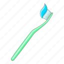 dental, hygiene, toothbrush, toothpaste icon