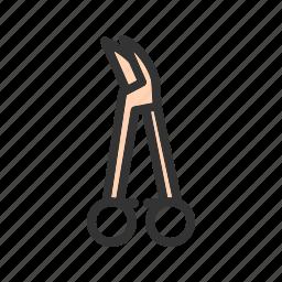 equipment, forceps, hemostats, metal, steel, surgical, teeth icon