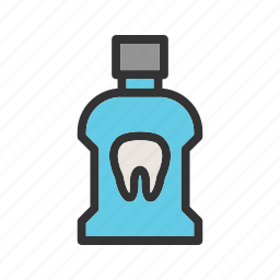bottle, clean, liquid, mouth, mouthwash, teeth, wash icon
