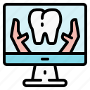 checkup, data, dental, examination, information, teeth, tooth icon