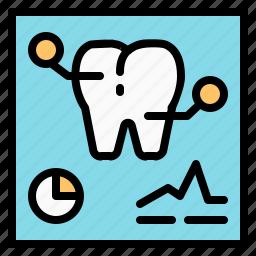 data, dental, medical, radiology, tooth, xray icon
