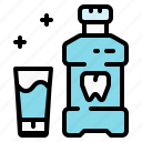 dentist, health, hygienic, mouthwash, teeth, tooth icon