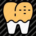 decay, dental, dentist, health, teeth, tooth icon