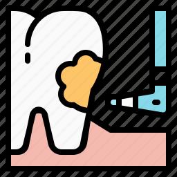 decay, dental, dentist, filling, health, teeth, tooth icon