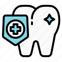 dental, dentist, protect, shield, teeth, tooth icon