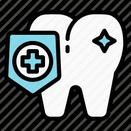 dental, dentist, protect, shield, teeth, tooth icon