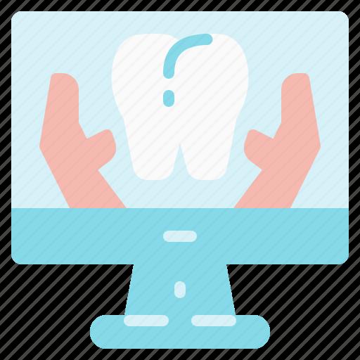checkup, data, dental, examination, information, teeth, tooth icon