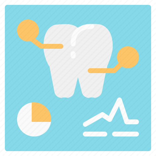 data, dental, medical, radiology, tooth, xray icon