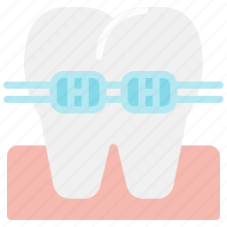 braces, canine, dental, dentist, health, teeth, tooth icon