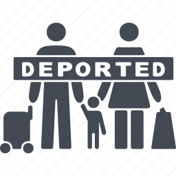 deportation, plane, travel, vacation, vehicle icon