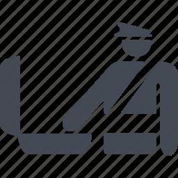 case, deportation, policeman, portfolio icon