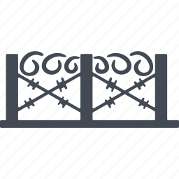 barbed wire, border, deportation, fencing icon
