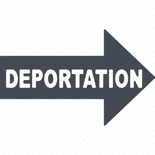 arrow, deportation, information, pointer icon