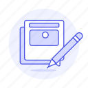 design, graphic, layout, mock, mockup, paper, pencil, up icon