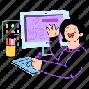 computer, designer, desiging