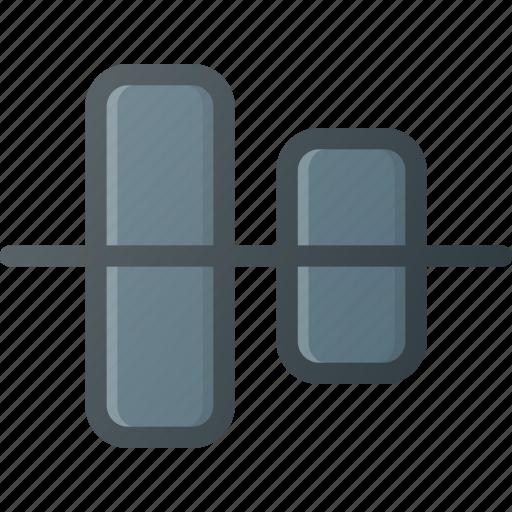 align, center, horizontal, object icon