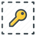 align, key, object icon