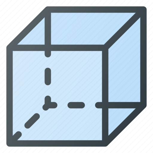 cube, geometry, object icon