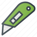 cardboard, cutter, knife, paper, tool icon