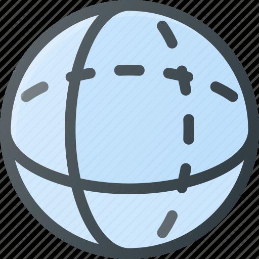 geometry, object, sphere icon