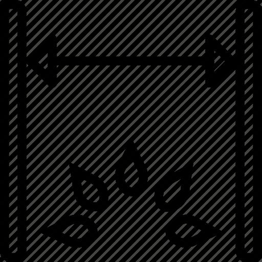 cad, computer aided design, dimension icon