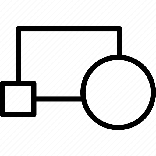 block, cad, computer aided design, create icon