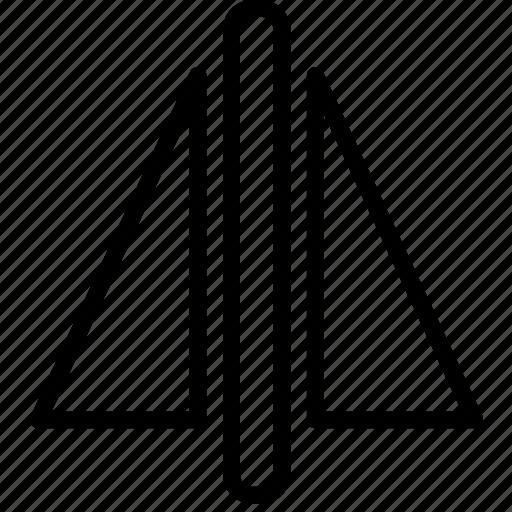 cad, computer aided design, mirror icon