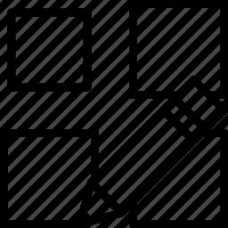 array, cad, computer aided design, edit icon