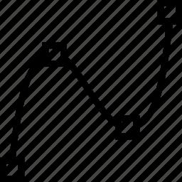 cad, computer aided design, spline icon