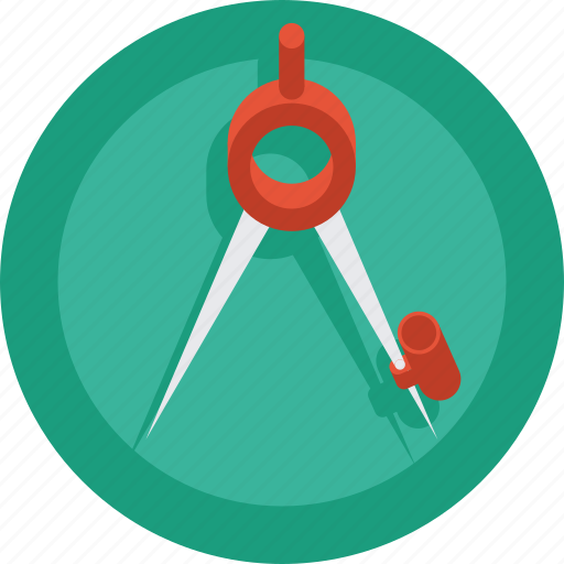 art, artist, circle, compass, creative, design, designer, draw icon