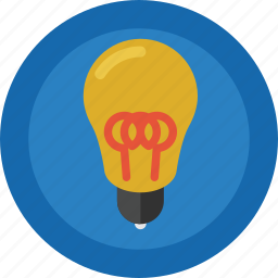 bulb, creative, creativity, idea, light, light bulb, original icon