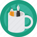 art, artist, creative, design, designer, mug, pen, pencil icon