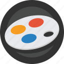 art, artist, colors, creative, design, paint, painter, painting, palette icon