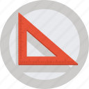 art, creative, design, ruler, set square, square icon