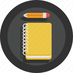 artist, book, creative, design, designer, notebook, pencil, sketch, sketchbook icon