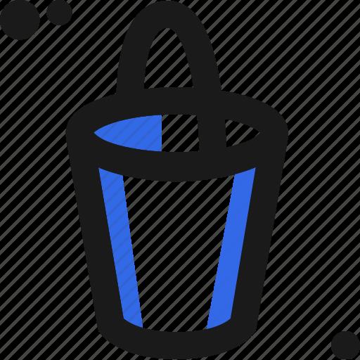 bucket, create, organize, paint, store icon