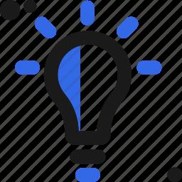 bulb, creative, idea, light, originate icon