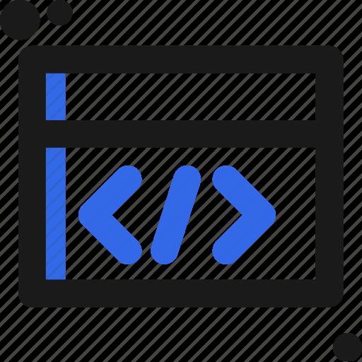code, creative, design, development, website icon