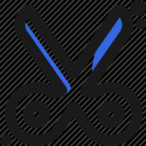creative, cut, design, fashion, scissor icon