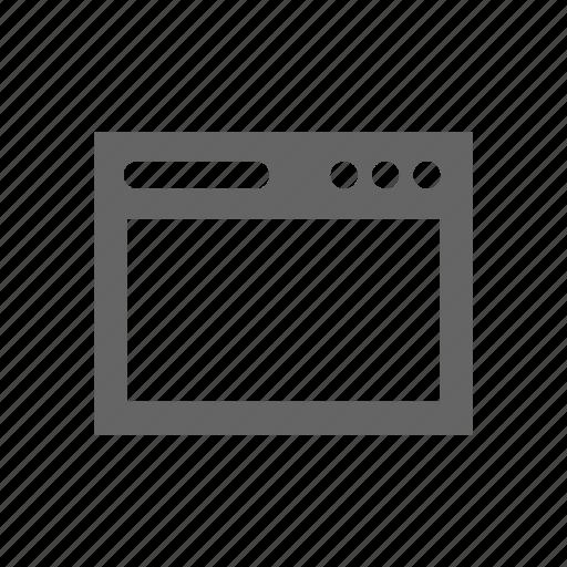 Application, app, window, widget icon