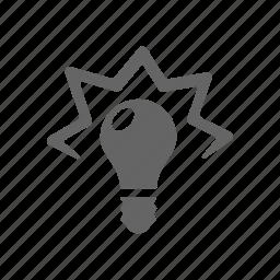design, idea, light boub icon