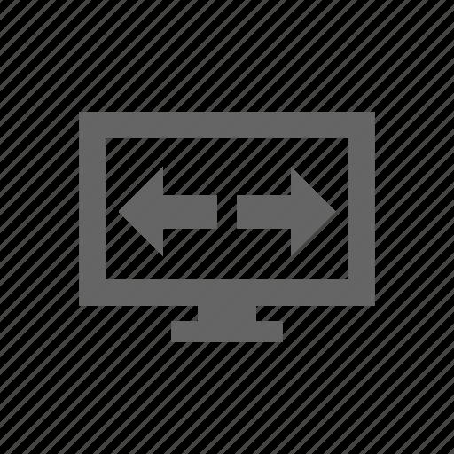 monitor, resolution, size icon