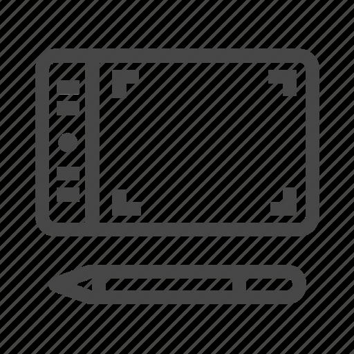 graphic, pen, tablet, wacom icon