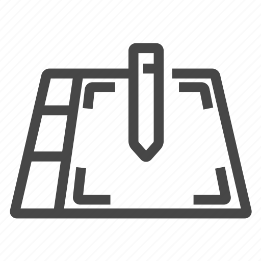 graphic, tablet, wacom icon